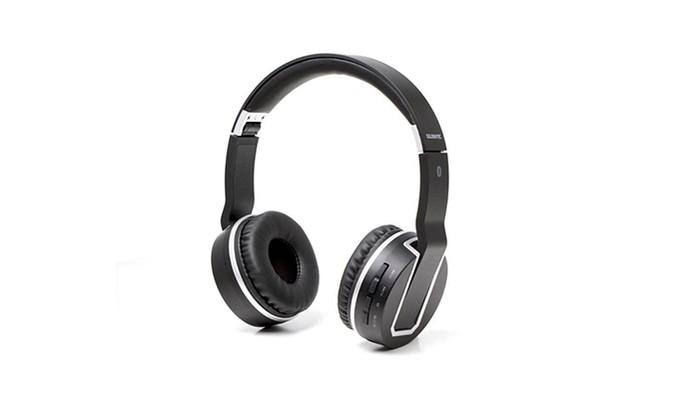 06a5d0ac6ec Fone de ouvido Goldentec GT 013BT tem Bluetooth e design revestido (Foto:  Divulgação/