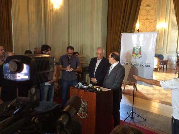 José Ivo Sartori e vice abriram mão de reajuste salarial (Foto: Palácio Piratini/Divulgação)