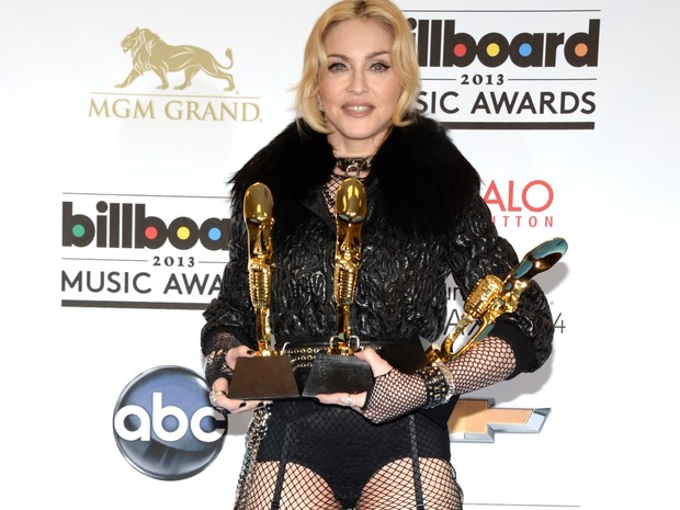 Madonna no Billboard Music Awards (Foto: Robyn Beck/ AFP)