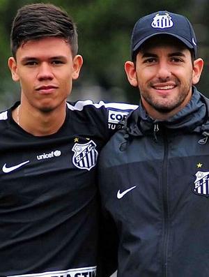 Leonardo Porto Lucas Matheus - Analistas Santos (Foto: Divulgação/Santos FC)