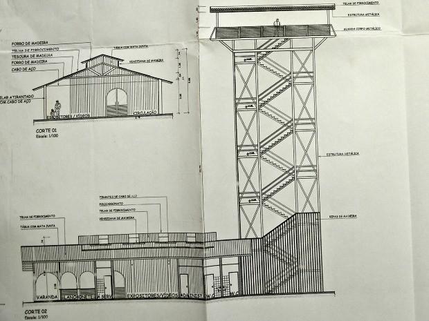 Planta das torres de observação que deverão ser erguidas no Acre (Foto: Diego Gurgel/Divulgação/Setul)