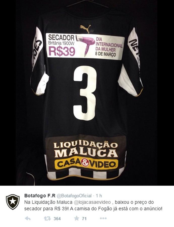 Camisa Botafogo Segundo tempo