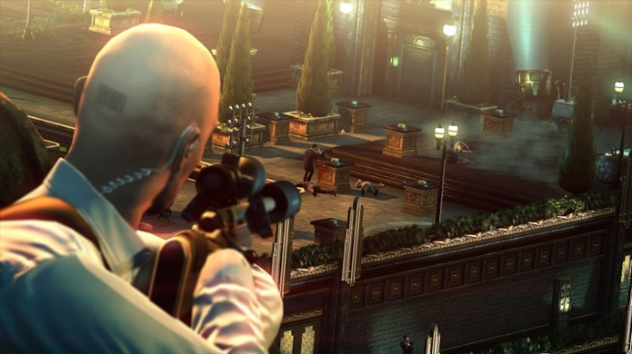 Hitman: Sniper Challenge trazia fases ricas com muitos alvos para abater antes de completar seu objetivo (Foto: Divulgação/Square Enix)