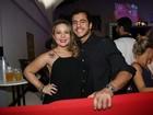 Ex-BBB Cacau comemora aniversário com Matheus em festa no Rio