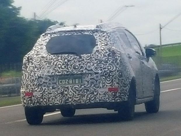 SUV compacto da Honda, flagrado em rodovia no interior de São Paulo (Foto: Aline Martins / VC no G1)