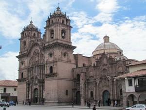Aventureiros visitaram a Igreja da Companhia Jesus, em Cusco (Peru) (Foto: Arquivo Pessoal / Liliane Santiago)