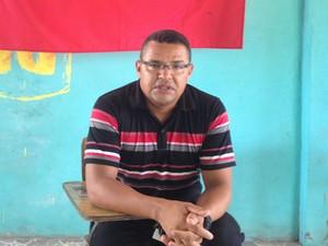Genival Cruz, presidente do Sindicato dos Rodoviários (Foto: John Pacheco/G1)