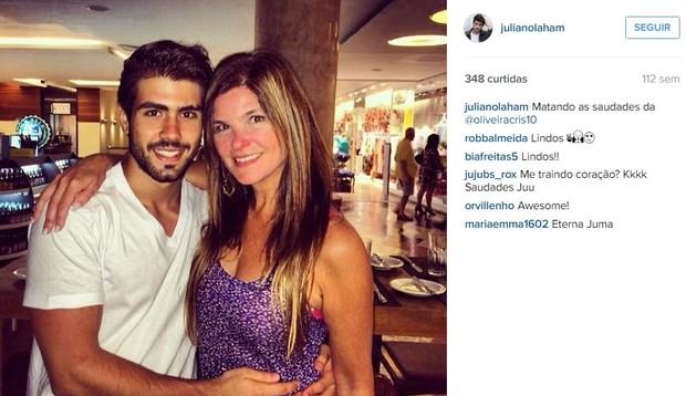 Juliano Laham e Cristiana Oliveira (Foto: Instagram / Reprodução)