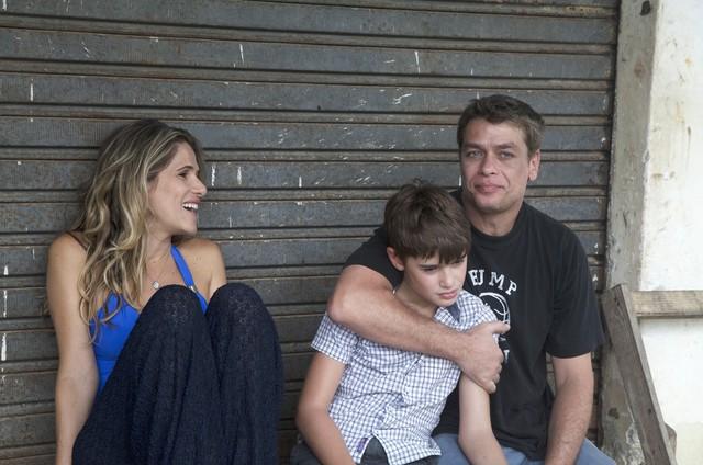 Ingrid Guimarães com João e Fábio Assunção (Foto: Luciana Melo)