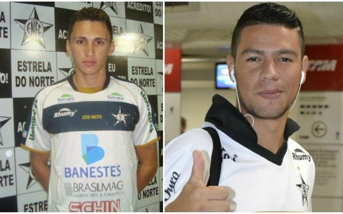 Meia Marcus Vinícius e zagueiro Jair retornam ao Estrela do Norte para 2015 (Foto: Montagem/GloboEsporte.com)