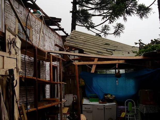 Morador de São Francisco de Paula relata susto durante temporal neste domingo (12) (Foto: Paulo Gomes/Arquivo pessoal)