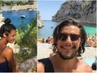 Bruno Gissoni e Yanna Lavigne visitam a França após viagem pela Itália