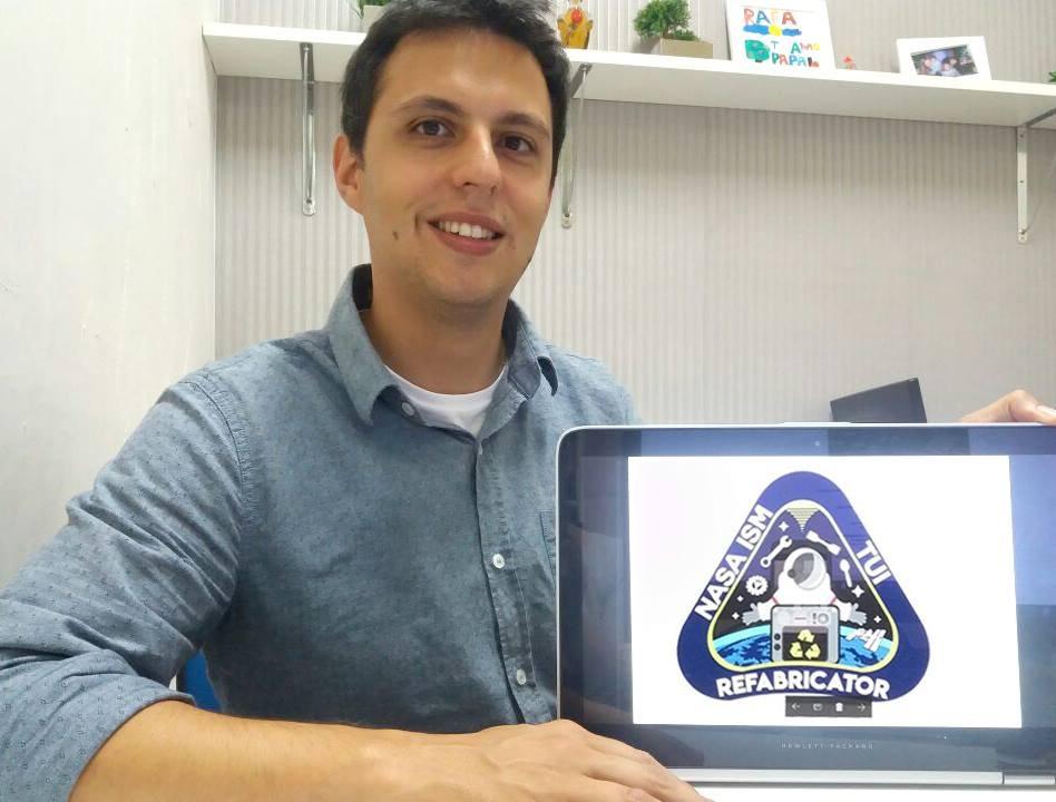 Patch do publicitário catarinense foi escolhido entre 230 logos do mundo todo (Foto: Acervo Pessoal)