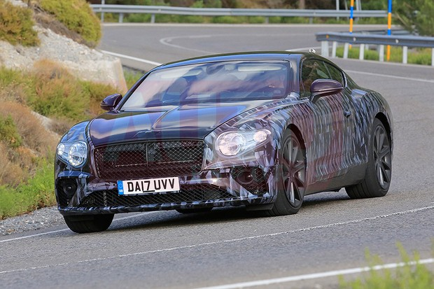 Bentley Continental GT flagrado em testes (Foto: Automedia)
