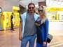 Danielle Winits e André Gonçalves curtem vitória do Brasil no Maracanã