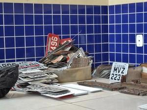 Operação Placas Ilegais Detran Belém (Foto: Divulgação/Detran)