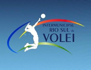 Logotipo da edição 2014 do Intermunicipal Rio Sul de Vôlei Masculino (Foto: Arte/TV Rio Sul)