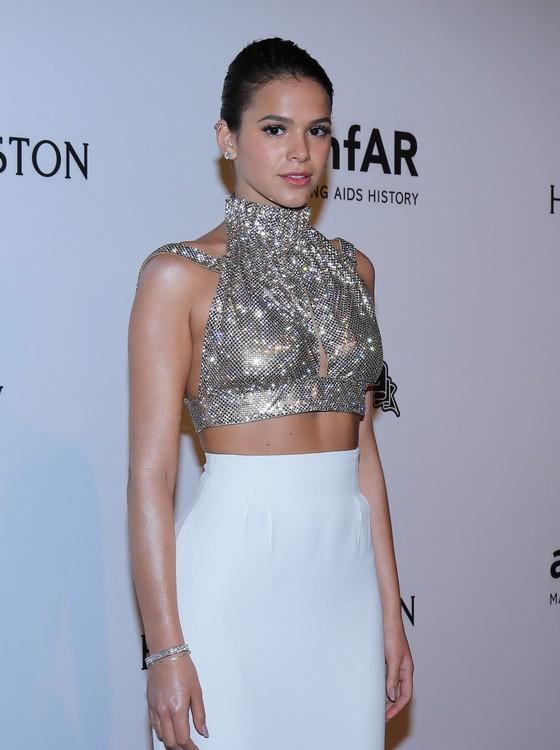 Menos é mais: Bruna Marquezine foi eleita pela turma da mosa como uma das mais bem vestidas da noite (Foto: AG. News)