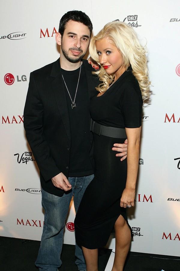 O empresário Jordan Bratman e a cantora Christina Aguilera (Foto: Getty Images)