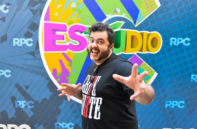 Fábio Elias Estúdio C (Foto: Priscilla Fiedler/RPC)