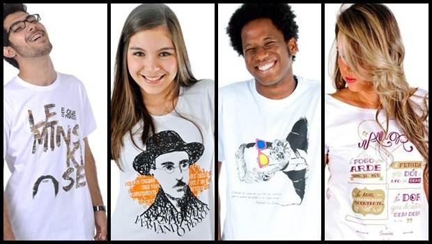 Algumas das camisetas vendidas pela empresa (Foto: Reprodução)