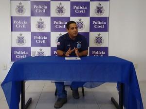 Delegado Maurício Moradilo responsável pela investigação, em entrevista nesta quarta-feira (3). (Foto: Maiana Belo / G1 Bahia)