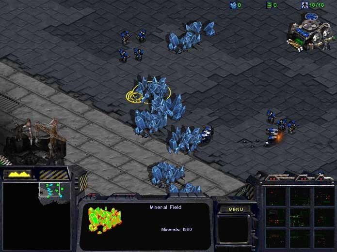 Colete recursos para sua base em StarCraft (Foto: Reprodução/Felipe Vinha)