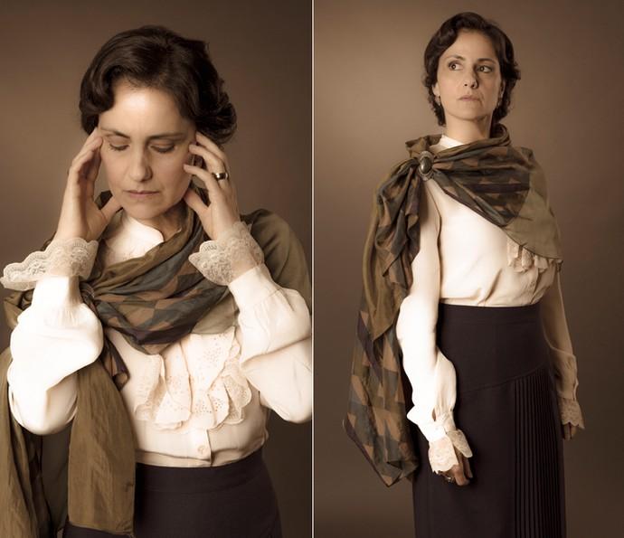 A atriz diz que sua personagem tenta estar no controle de tudo ao seu redor (Foto: Ellen Soares/Gshow)
