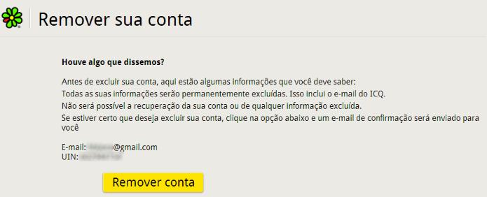 Apagando conta no ICQ (Foto: Reprodução/Helito Bijora)