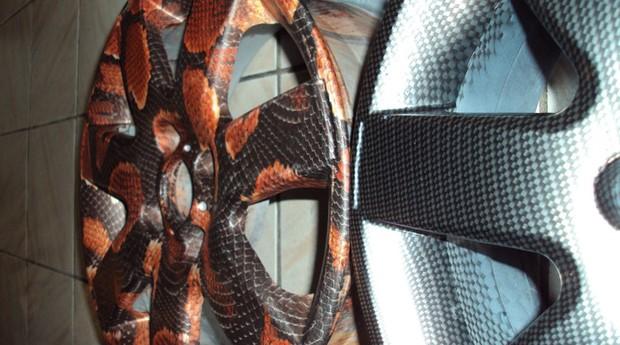 Rodas personalizadas pelo Water Transfer Printing (Foto: EDX Water Transfer Printing)