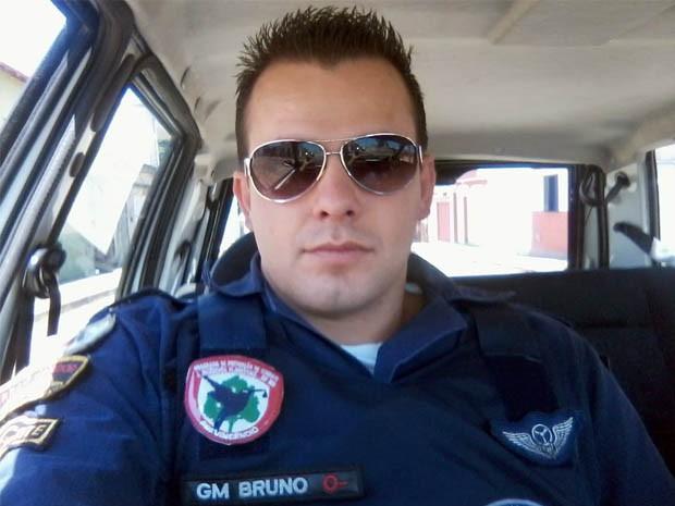 Bruno Ricelli foi eleito guarda municipal mais bonito do Brasil (Foto: Bruno Ricelli/Arquivo Pessoal)