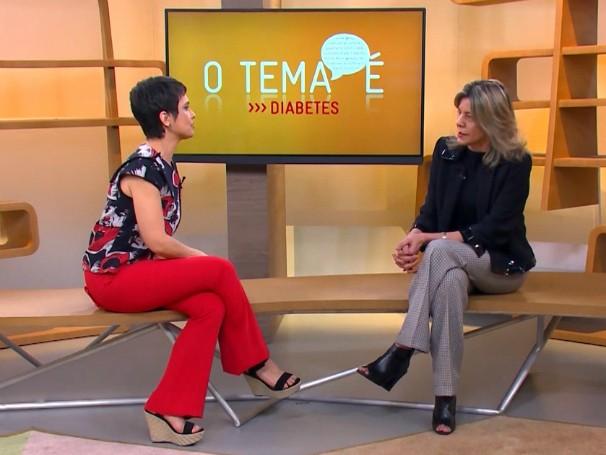 Sandra Annenberg tira as dúvidas do públicos sobre Diabetes com a especialista Karla Melo (Foto: Globo)