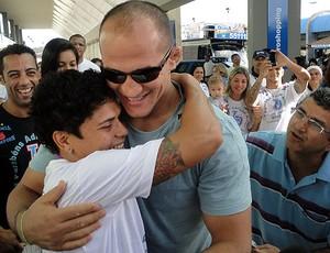 adriana araújo e júnior cigano (Foto: Raphael Carneiro/Globoesporte.com)