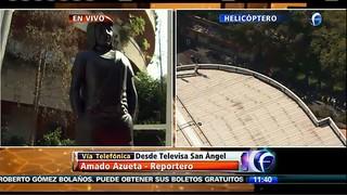 Estátua - Cortejo de Roberto Gómez Bolaños (Foto: Reprodução/Televisa)
