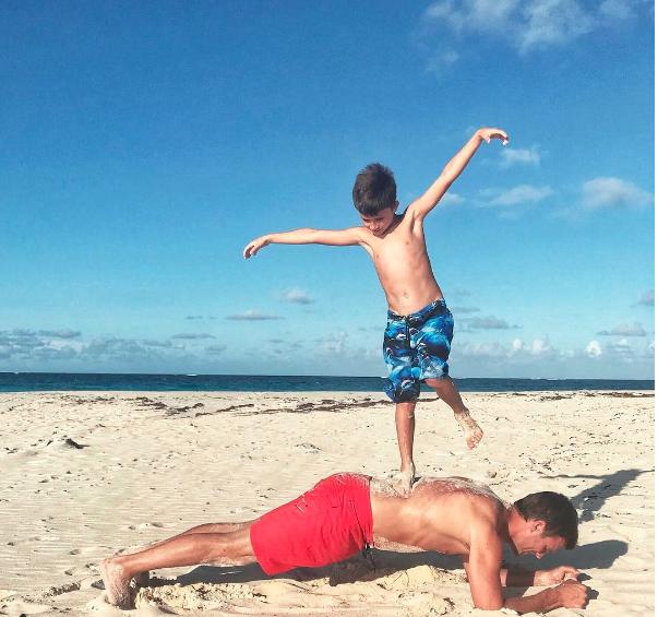 Tom Brady e o filho, Benjamin (Foto: Reprodução/Instagram)