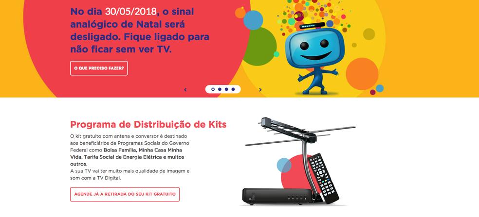 Kit gratuito com antena e conversor será destinado aos beneficiários de Programas Sociais (Foto: Divulgação/Seja Digital)