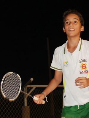 Fabrício Farias Badminton Piauí Febapi (Foto: Náyra Macêdo)