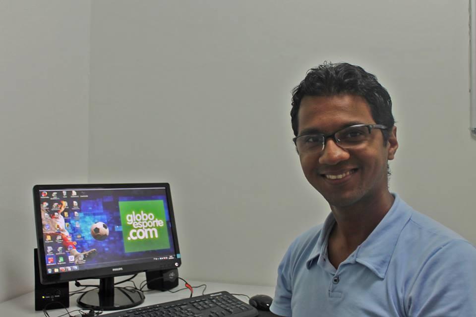 Henrique Almeida é estagiário no portal GloboEsporte.com (Foto: Arquivo Pessoal)