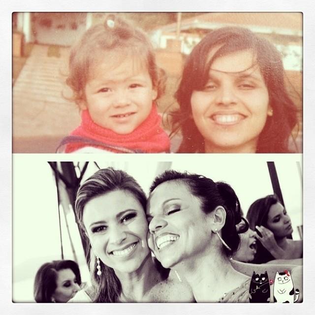 Camille e a mãe (Foto: RBS TV/Divulgação)