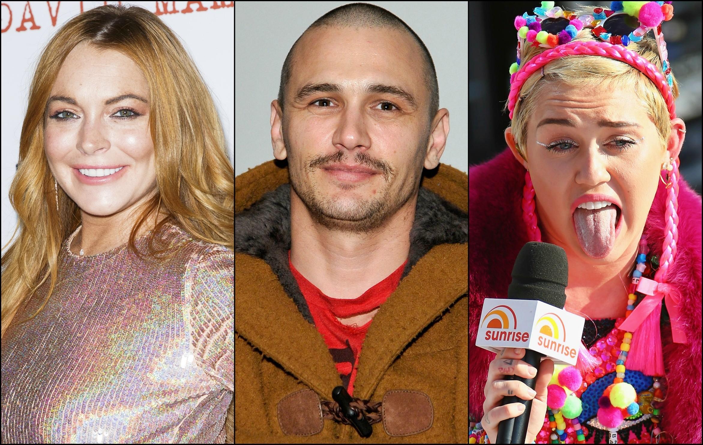LiLo, James Franco e Miley: sóbrios ou não? (Foto: Getty Images)