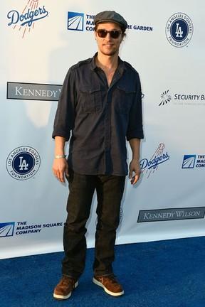 Matthew McConaughey em evento beneficente em Los Angeles, nos Estados Unidos (Foto: Frazer Harrison/ Getty Images/ AFP)