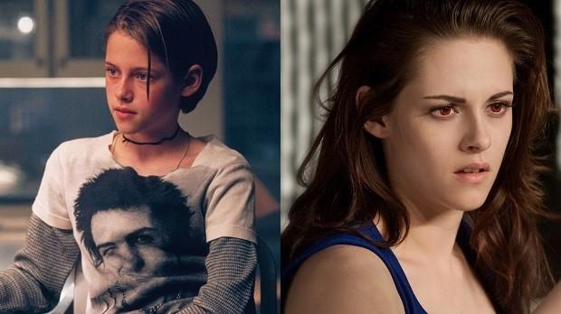 Kristen Stewart em O Quarto do Pânico e A Saga Crepúsculo: Amanhecer - Parte 2 (Foto: Divulgação)