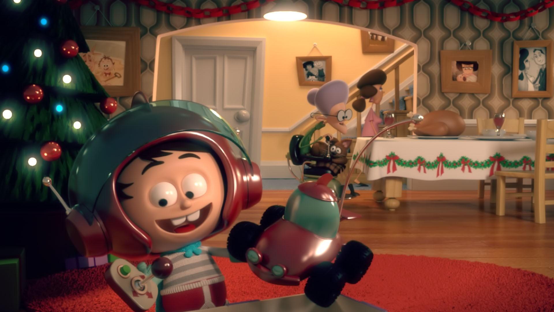 Remoto - É Natal. Um menino ganha da avó um fantástico carro de controle remoto. Mas sua felicidade dura pouco, pois parece não funcionar... ou funciona? (Foto: Divulgação)