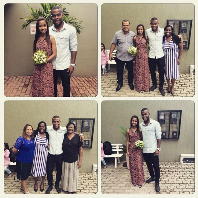 Vinicius Tanque casou-se na manhã desta sexta, após quatro anos de noivado (Foto: Reprodução/Instagram)