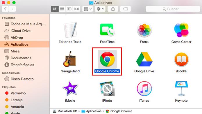 Localize o Chrome na sua lista de apps instalados (Foto: Reprodução/Paulo Alves)