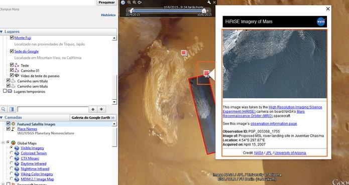 Veja imagens ampliadas da superfície de Marte (Foto: Reprodução/Barbara Mannara)