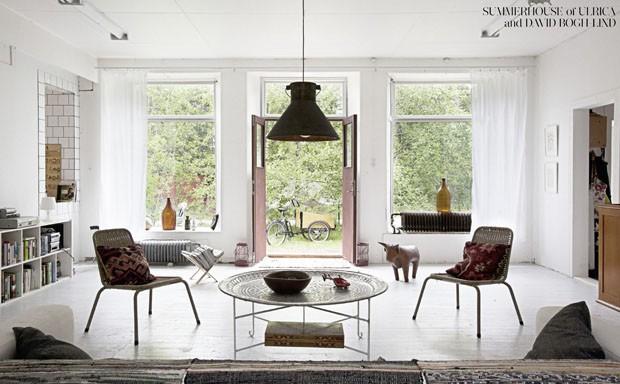 (Foto: Casa de veraneio de Ulrica e David Bogh-Lind, do livro Northern Delights © Gestalten 2013)