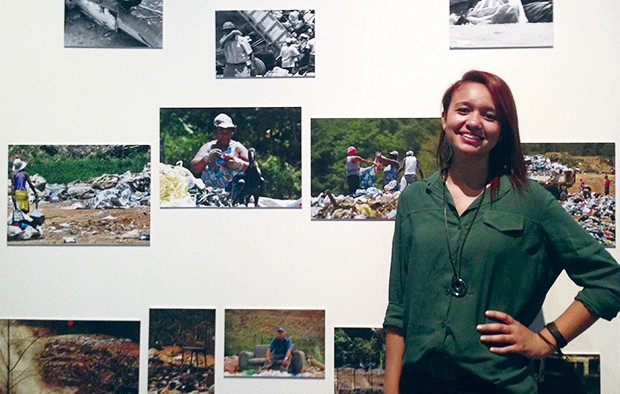"""Tai Fernandes mostra a exposição """"Seu lixo, meu trabalho"""" (Foto: Emy Lobo)"""