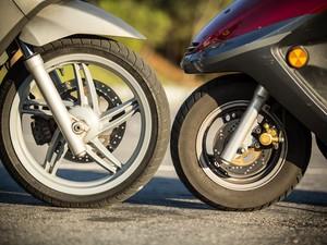 Rodas de diferentes tamanhos proporcionam efeitos diferentes (Foto: Raul Zito/G1)