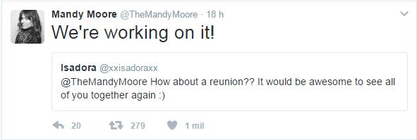 Mandy Moore tweet (Foto: Reprodução/Twitter)